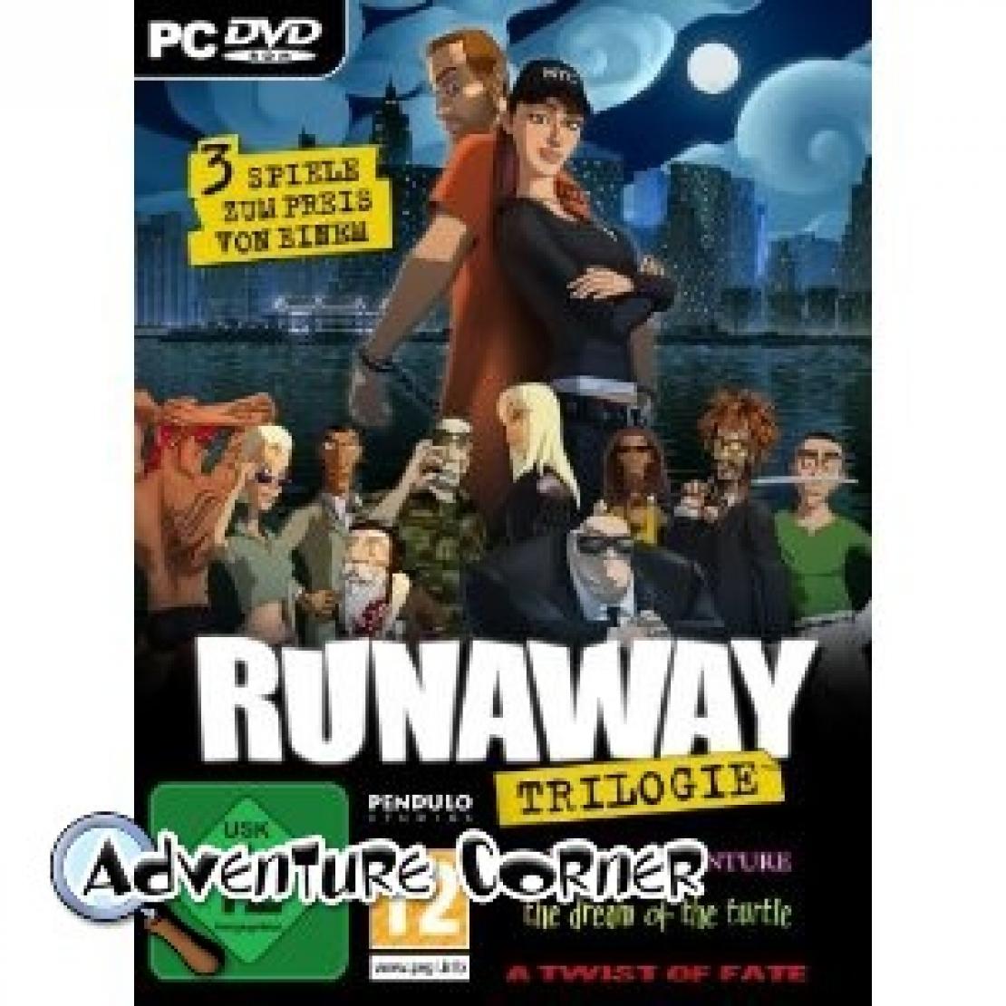 Runaway Trilogie Auch in der Schachtel   Adventure Corner
